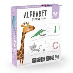 ALPHABET. MONTESSORI METHOD. EDUCATIVEL PUZZLES