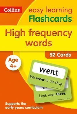 4+YEARS.HIGH FREQUENCY WORDS FLASHCARDS