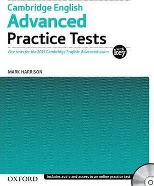 CAMBRIDGE ENGLISH ADVANCED PRACTICE TEST WITH KEY EXAM PACK 3RD EDITION
