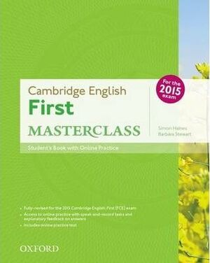 CAMBRIDGE ENGLISH FIRST MASTERCLASS STUDENT'S BOOK+OSP PACK EXAM 2015