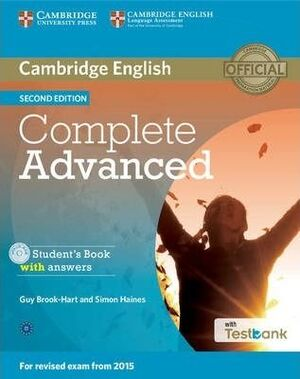 COMPLETE ADVANCED STUDENT'S BOOK WITH ANSWERS WITH CD-ROM WITH TESTBANK 2ND EDITION