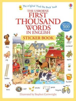 FIRST THOUSAND WORDS IN ENGLISH STICKERS