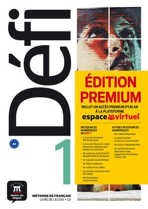 DEFI 1 PREMIUM LIVRE DE L´ELEVE + CD
