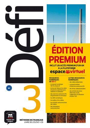 DEFI 3 LIVRE DE L'ELEVE PREMIUM +CD