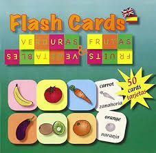 FRUITS FLASH CARDS. INGLÉS-ESPAÑOL. FRUTAS Y VERDURAS