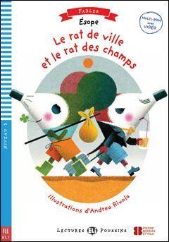 A1.1. LE RAT DE VILLE ET LE RAT DES CHAMPS +CD. LECTURES POUSSINS